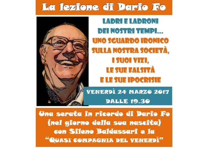 La lezione di Dario Fo: venerdì 24 marzo 2017