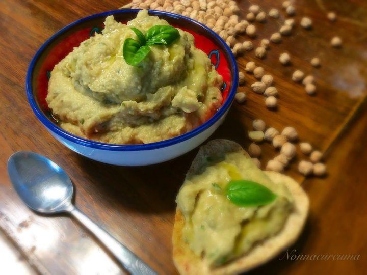 Hummus al basilico