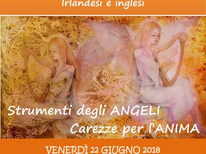 """Venerdì 22 giugno 2018 ore 20: """"Arpa celtica e voce in concerto"""" (serata con apericena)"""
