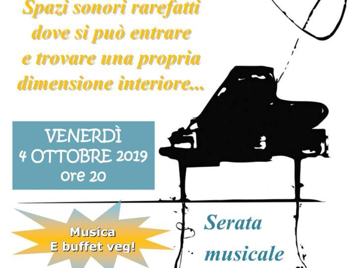 "Venerdì 4 ottobre 2019 ore 20: ""Musica da meditazione"" (serata buffet con Davide Rossi)"