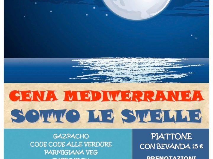 Venerdì 24 luglio 2020: Cena mediterranea sotto le stelle