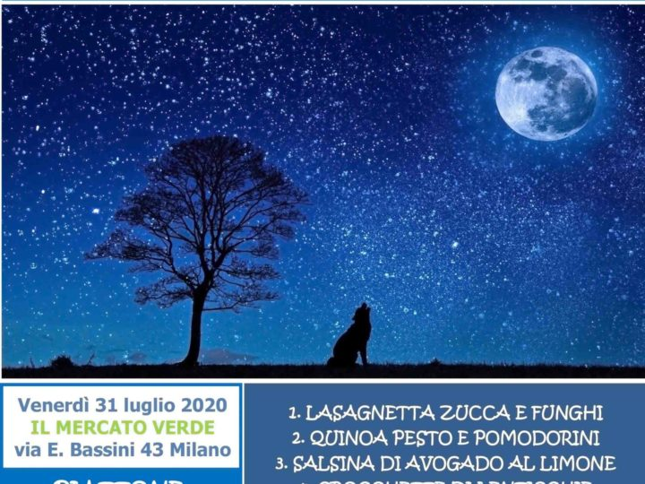Venerdì 31 luglio 2020: Cena coi fiocchi sotto le stelle (the last!)